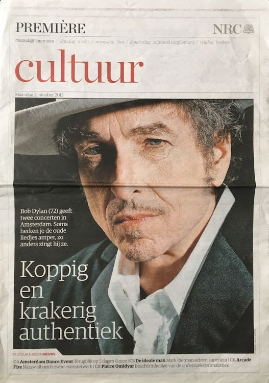 premiere nrc supplement magazine Bob Dylan cover story