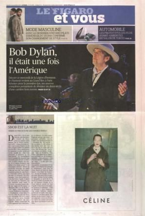 le figaro et vous 2013 magazine Bob Dylan cover story
