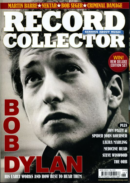 record collector magazine #415 uk Bob Dylan cover story