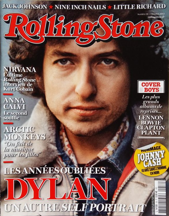 rolling stone magazine france October 2013 Bob Dylan cover story