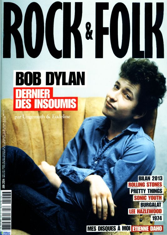 rock & folk magazine france #557 Bob Dylan cover story