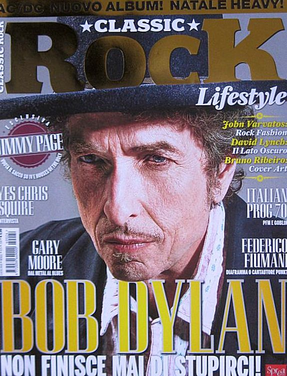 classic rock 2014 italy magazine Bob Dylan cover story