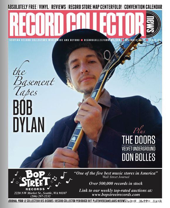 record collector news usa December 2014 magazine Bob Dylan cover story