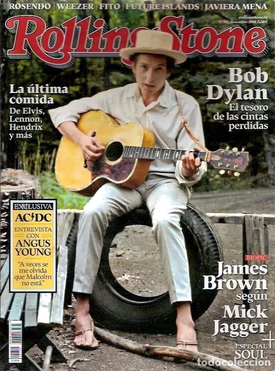 rolling stone magazine spain #182 December 2014 Bob Dylan cover story