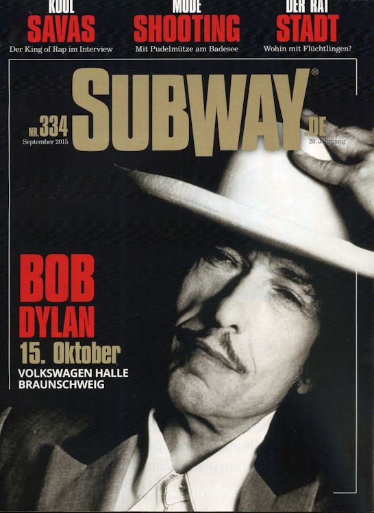 subway.de magazine Bob Dylan cover story