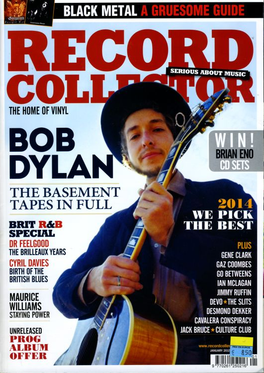 record collector magazine #436 uk Bob Dylan cover story