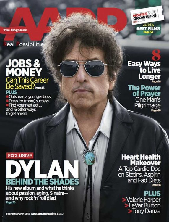 AARP magazine Bob Dylan cover story