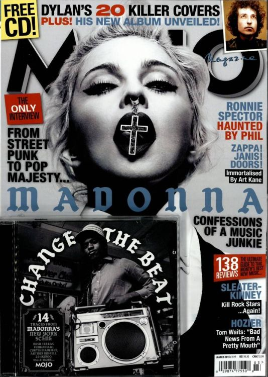 Mojo March 2015 magazine Bob Dylan cover story