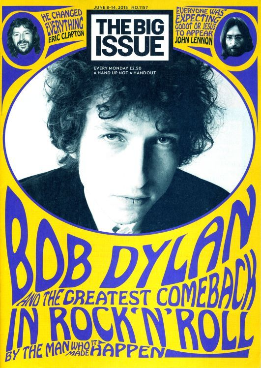 the big issue 2015 magazine Bob Dylan cover story