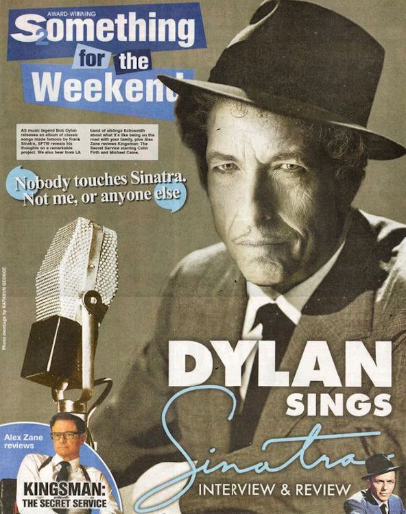 something for the weekend magazine Bob Dylan cover story