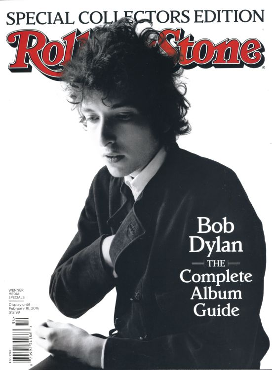 Rolling Stone US magazine december 2015 front Bob Dylan cover story
