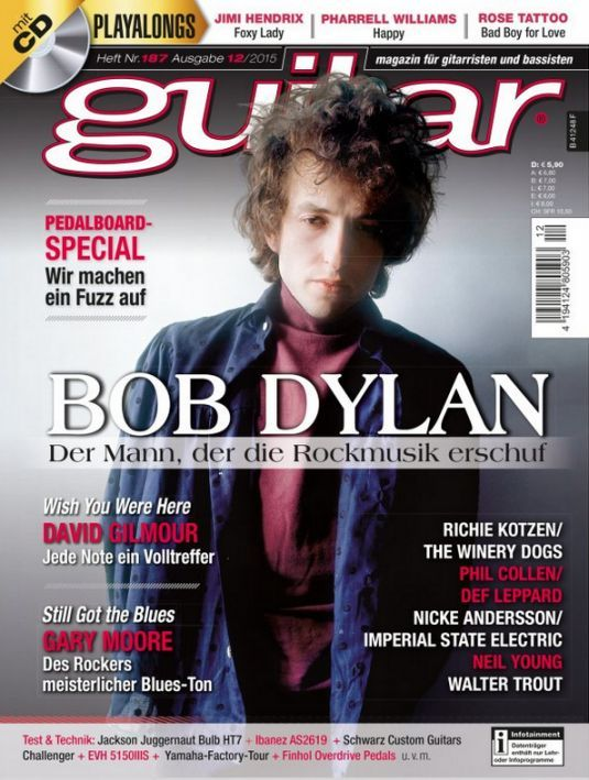 guitar germany magazine Bob Dylan cover story