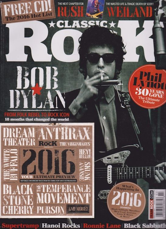 classic rock uk magazine Bob Dylan cover story
