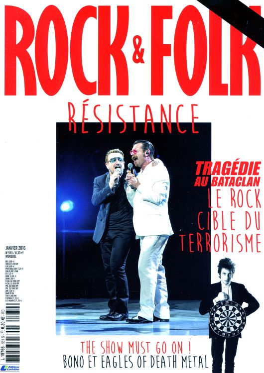 rock & folk magazine #581 france  Bob Dylan cover story