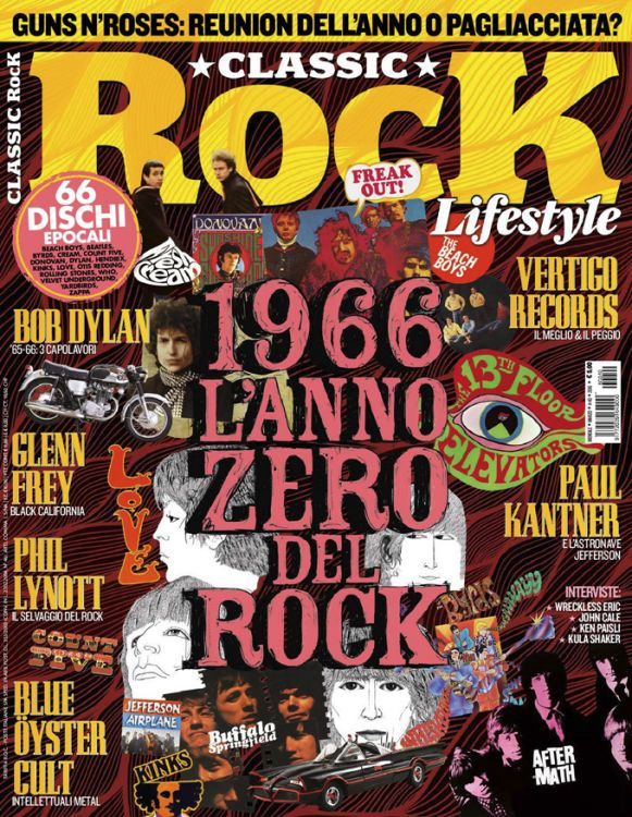 classic rock italy 2016 magazine Bob Dylan cover story
