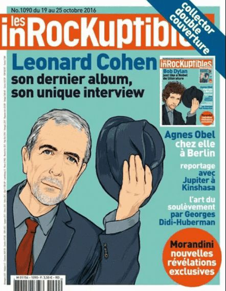 les inrockuptibles  2016 10 magazine leonard cohen cover story