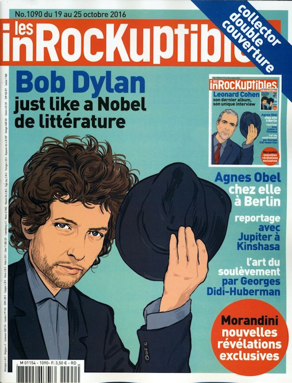 les inrockuptibles  2016 10 magazine Bob Dylan cover story