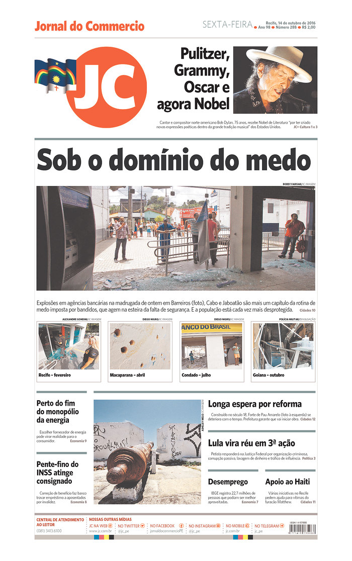 jornal do comercio magazine Bob Dylan cover story