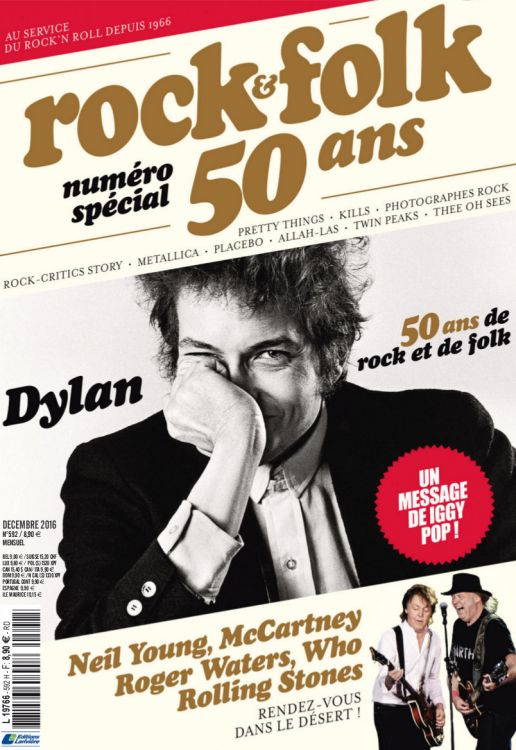 rock & folk magazine france #592 Bob Dylan cover story
