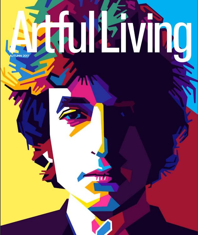 arful living magazine france Bob Dylan cover story