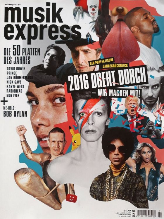musik express January 2017 magazine Bob Dylan cover story