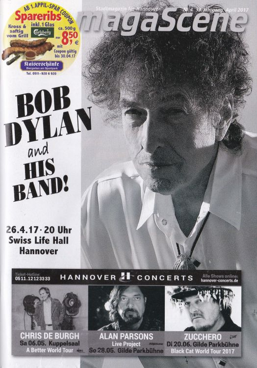 magascene germany magazine Bob Dylan cover story