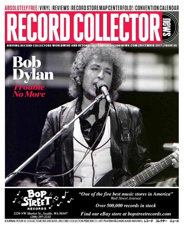 record collector news usa #65 December 2017 magazine Bob Dylan cover story