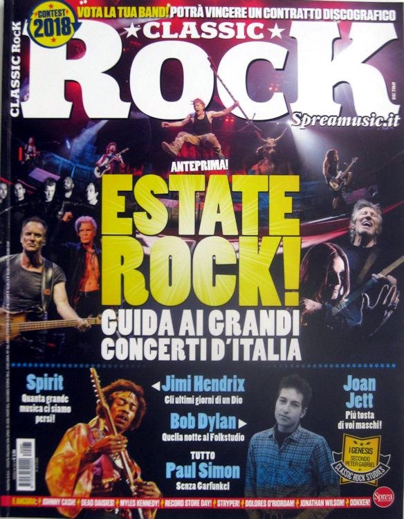 classic rock italy April 2018 magazine Bob Dylan cover story