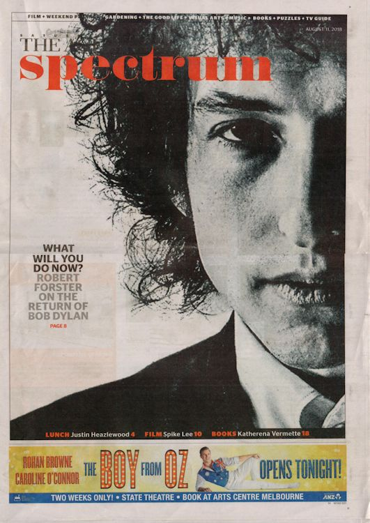The age 2018 australia Bob Dylan cover story