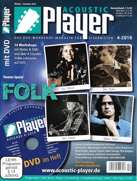acoustic player magazine Bob Dylan cover story