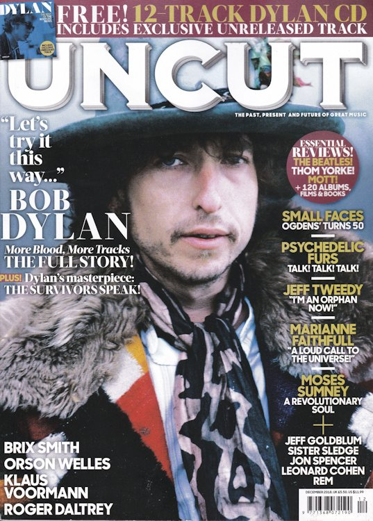 uncut magazine December 2018 Bob Dylan cover story