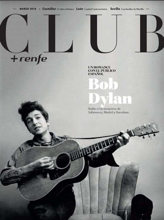 club renfe magazine Bob Dylan cover story