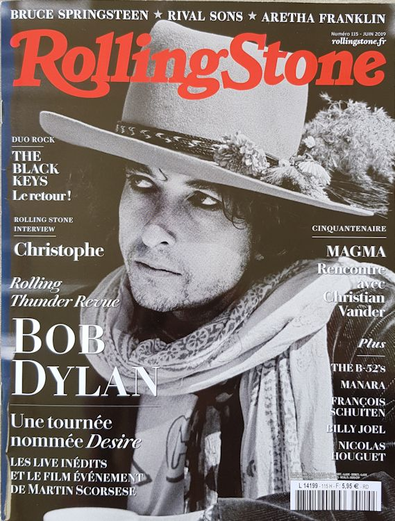 rolling stone magazine france june 2019 Bob Dylan cover story