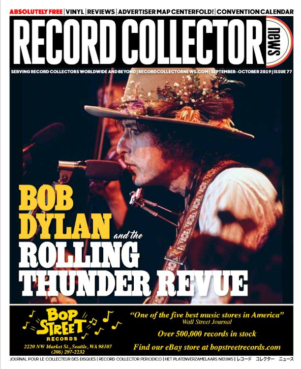 record collector news usa #77 October 2019 magazine Bob Dylan cover story