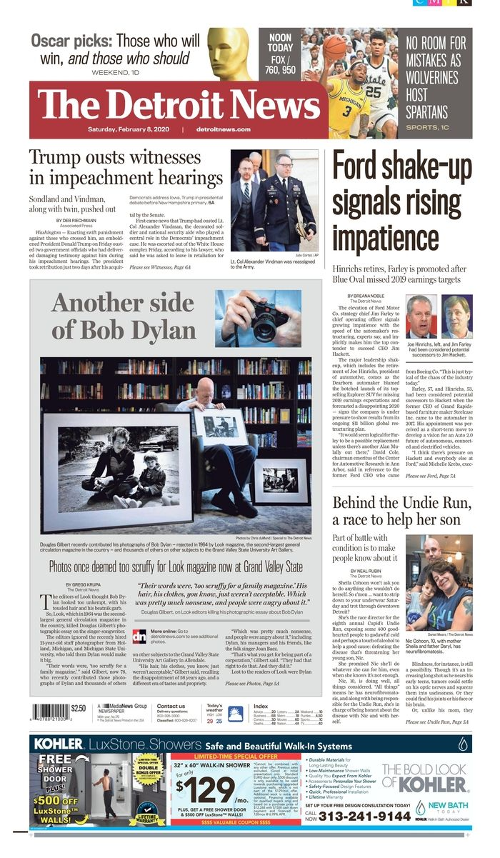 the detroit news Bob Dylan cover story