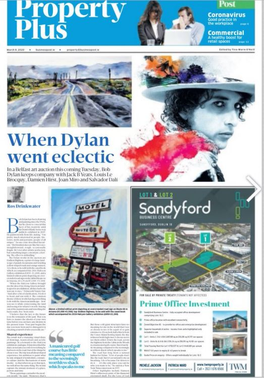 property plus Bob Dylan cover story