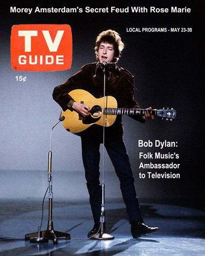 tv guide usa 23-30 May 1965 magazine Bob Dylan cover story