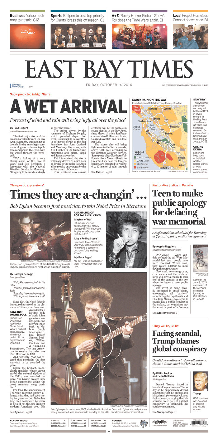 east bay time magazine Bob Dylan cover story