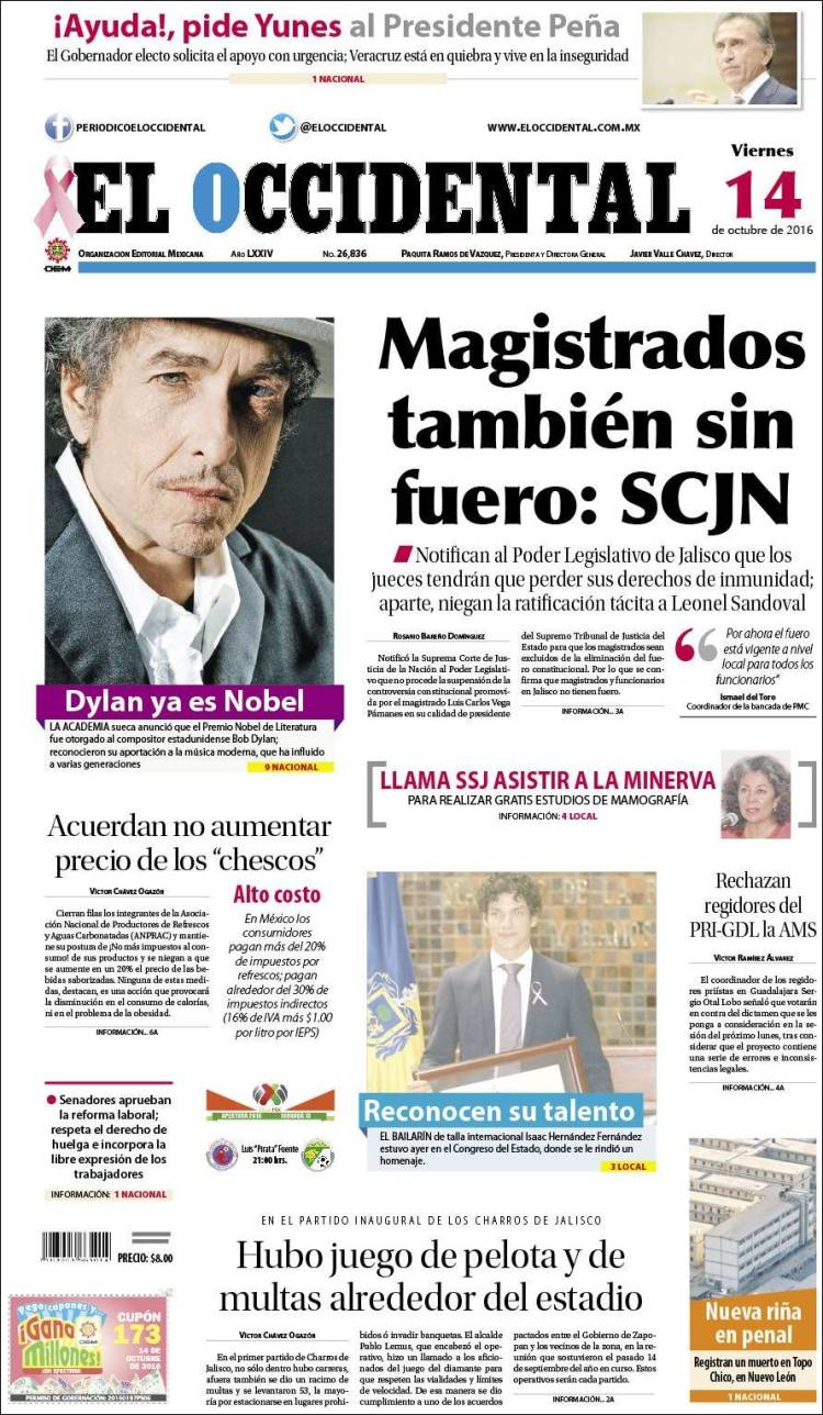 el occidental magazine Bob Dylan cover story