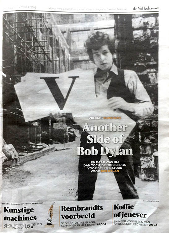 volkskrant supplement magazine Bob Dylan cover story