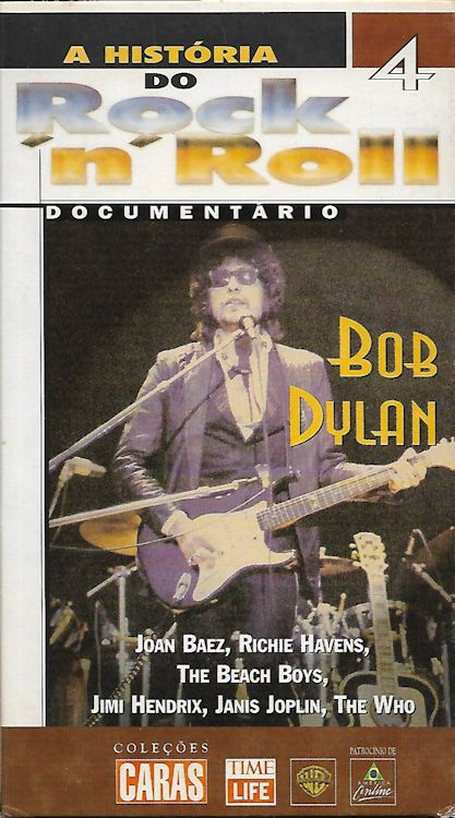 a historia do rock n roll vhs magazine Bob Dylan cover story