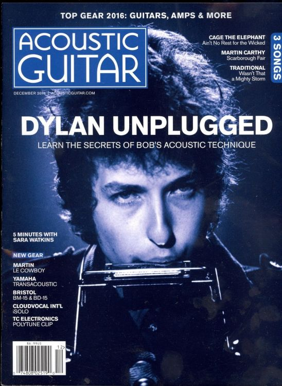 acoustic guitar usa 2016 magazine Bob Dylan cover story