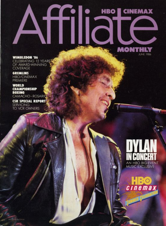 affiliate magazine bob dylan cover story