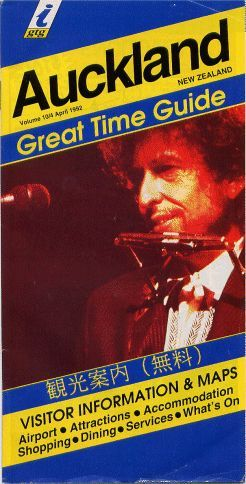 auckland great time guide magazine Bob Dylan cover story