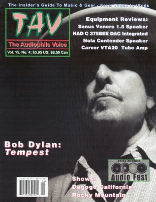 the audiophile voice 2012 magazine Bob Dylan cover story
