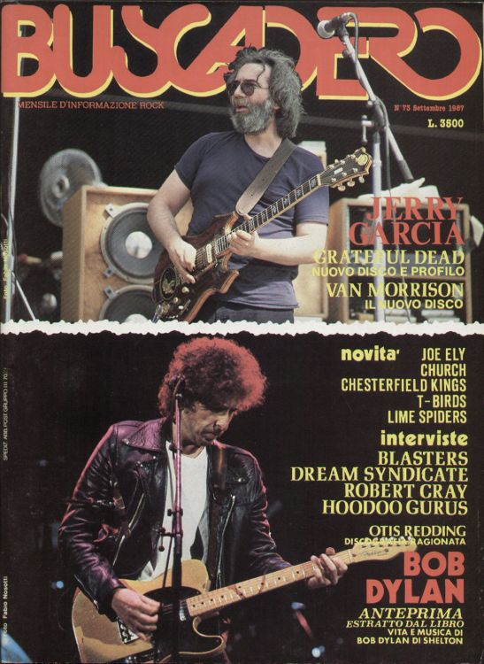 Buscadero magazine 73 Bob Dylan cover story
