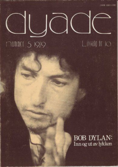 dyade norway 1979 magazine Bob Dylan cover story