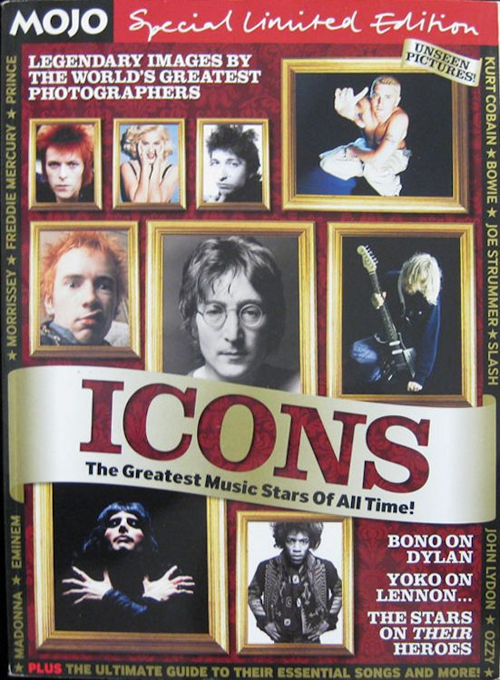 Mojo magazine Bob Dylan cover story special icons