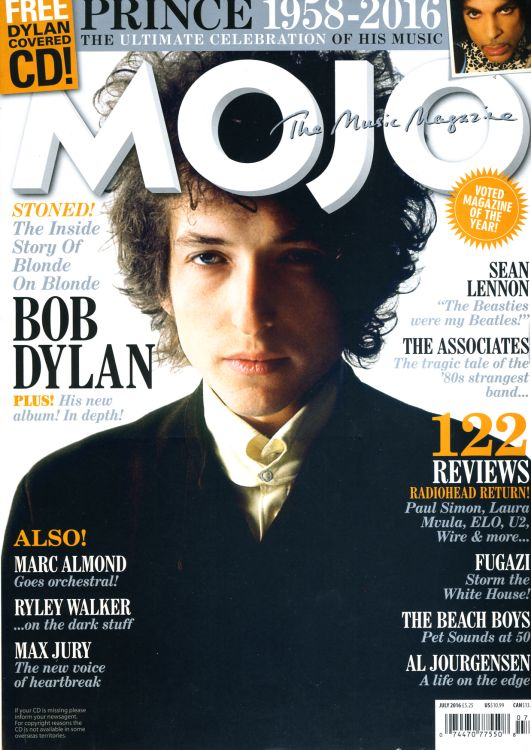 Mojo July 2016 magazine Bob Dylan cover story