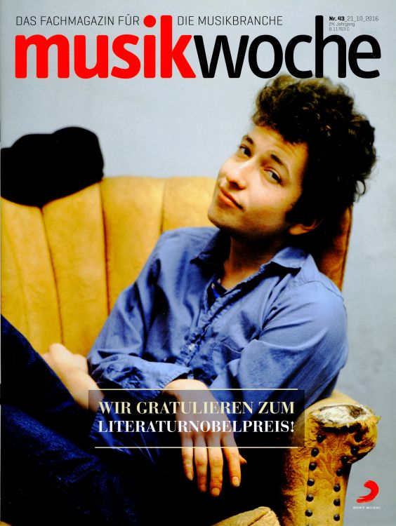music woche magazine Bob Dylan cover story